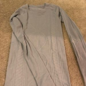 Lululemon Grey Long Sleeve Shirt